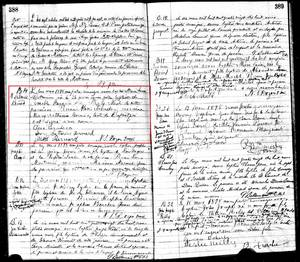 Baptism Record for Marie Louise Catherine Bernard. Mattawa Catholic Register 1891-1898, page 388.