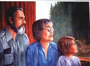 """Bob, Dawn, and Grey looking out."" Bob Richardson, 1982. Photo courtesy of Bob Richardson."