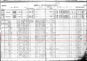 Year: 1911; Census Place: Papineau, Nipissing, Ontario; Page: 6; Family No: 44. Library and Archives Canada. Census of Canada, 1911. Series RG31-C-1. Statistics Canada Fonds. Microfilm reels T-20326 to T-20460.